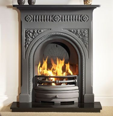 Fairburn 36 Black Cast Iron Fireplaces