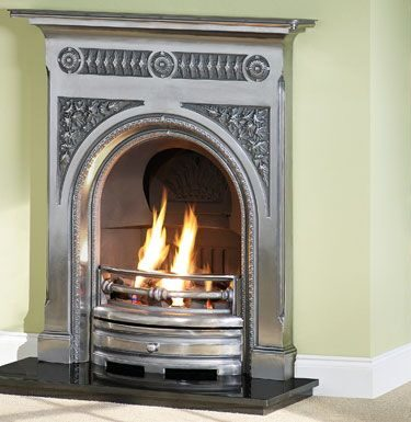 Fairburn 36 Full Polished Cast iron Fireplaces